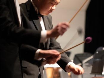 Grandview High School wind ensemble percussion
